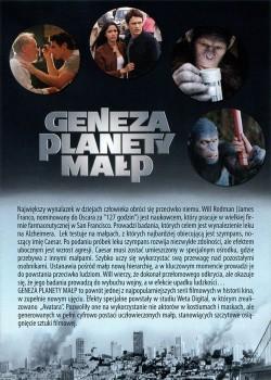 Tył ulotki filmu 'Geneza Planety Małp'