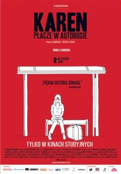 Polski plakat filmu 'Karen Płacze W Autobusie'