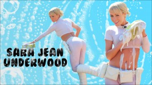 "Sara Jean Underwood ""Soapy Car Wash"" Widescreen Wallpaper"