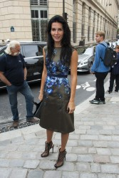 Angie Harmon - Giambattista Valli Spring 2014 fashion show in Paris 9/30/13