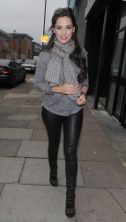 Kelly Brook - leaving a studio in London 10/1/13
