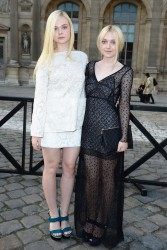 Dakota Fanning - Louis Vuitton S/S 2014 fashion show in Paris 10/2/13