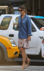 Katie Holmes - out in NYC 10/4/13