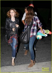 Julianne Hough, Nina Dobrev & Lily Collins - Out in Universal City 10/5/13