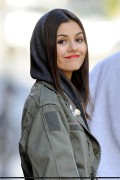 Victoria Justice - Filming Naomi & Ely's No Kiss List in New York 10/14/13 **ADDS**