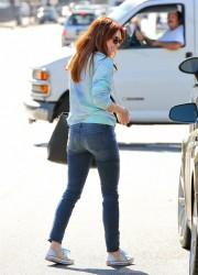 Alyson Hannigan - out in Santa Monica 10/16/13