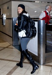 Michelle Rodriguez - At LAX Airport 10/21/13