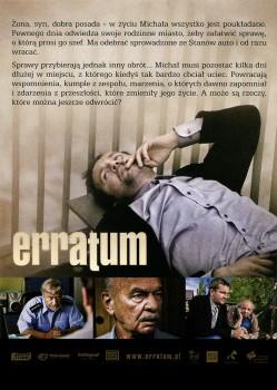 Tył ulotki filmu 'Erratum'