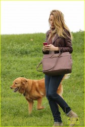 Blake Lively - At a park in LA 11/5/13