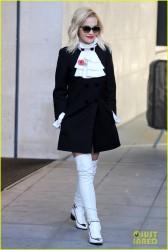 Rita Ora - Leaving BBC 1 Studios in London 11/4/13