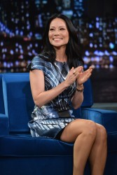 Lucy Liu - visits Late Night with Jimmy Fallon in NYC 11/5/13