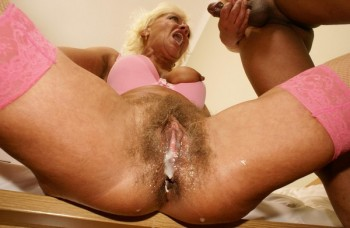 Cum in mature cunt