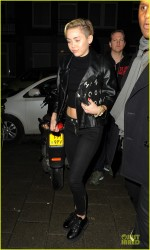 Miley Cyrus - Arriving to Greenhouse Coffee Shop in Amsterdam 11/8/13
