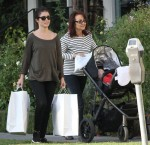 Shiri Appleby at Bel Bambini in West Hollywood, with her daughter Natalie and her mother - October 25, 2013