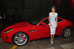 Miranda Kerr - 2015 Jaguar F-TYPE R Coupe debut in LA 11/19/13