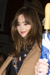 Jenna Coleman - out in London 11/21/13