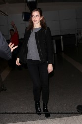Emma Watson Arriving at LAX Airport in Los Angeles on November 24, 2013