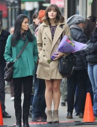 d32a09291813866 [Low Quality] Katharine McPhee   on the set of In My Dreams in Vancouver 11/28/13 high resolution candids