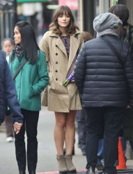 f12d43291813864 [Low Quality] Katharine McPhee   on the set of In My Dreams in Vancouver 11/28/13 high resolution candids