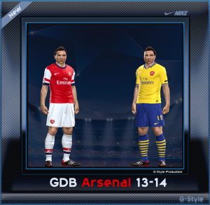 download PES 2014 Arsenal 13-14 GDB by G_Style
