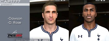download PES 2014 M. Dawson and D. Rose Face by Capt777