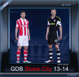 download pes Stoke City F.C. 2014 Kit Set by G-Style