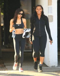 Naya Rivera - heading to the gym in West Hollywood 12/9/13