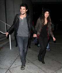 Marie Avgeropoulos - at the Jay-Z concert in LA 12/9/13