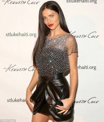 Adriana Lima - Celebrating Haitian Heroes of the St. Luke Foundation in NYC 12/10/13