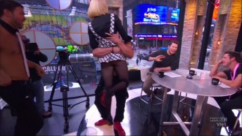 CARRIE KEAGAN has her skirt pulled up live exposing her perfect bum
