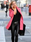 Kimberley Garner Cleavage in a Low Cut Top in London 01/15/14