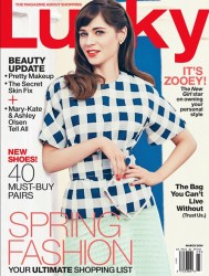 Zooey Deschanel - Lucky Magazine March 2014