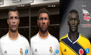 Download 3 Faces For PES 2014 by KRL68