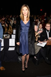 Daisy Fuentes - Carmen Marc Valvo fashion show in NYC 2/7/14