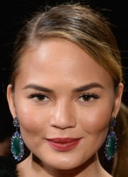 Chrissy Teigen - Donna Kara New York Fashion Show in NYC 2/10/14
