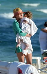 Hayden Panettiere at the beach in Miami 2/19/14