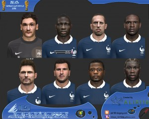 Download PES 2014 A L I R 1 1 0 Faces - France Face Pack