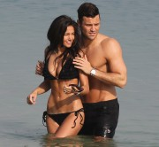 Michelle Keegan - Black Bikini Dubai March 2014 LQx 12