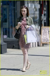 Lily Collins - Shopping in LA 4/6/14