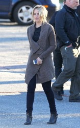 Dianna Agron - on the set of 'Tumbledown' in Worcester 4/6/14