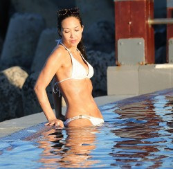 Myleene Klass in a white bikini in Cape Town, March 11 x 31