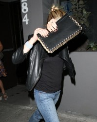Kristen Bell - Leaving Crossroads Vegan restaurant in West Hollywood 5/1/14