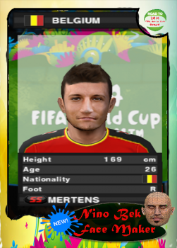 Dries Mertens Face PES 2014 PS2