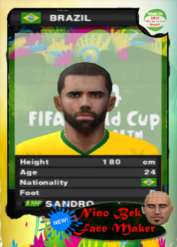 Sandro Ranieri Face PES 2014 PS2