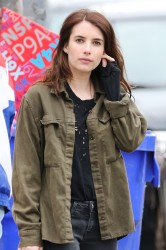 Emma Roberts -                   	''Little Italy'' Set Toronto June 1st 2017.