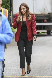 Katharine McPhee on the set of The Lost Wife of Robert Durst in Vancouver - 6/1/17
