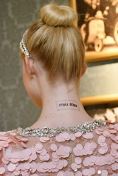 Elle Fanning - Miu Miu Haute Couture Fashion Show in Paris 7/2/17