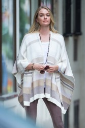 Lindsay Ellingson - Ont set of a photoshoot in NYC 6/27/17