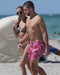 Katie Cassidy - Bikini Candids in Miami 7/1/17