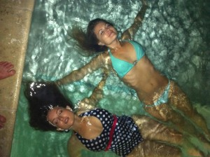 Milana Vayntrub and Stevie Nelson in a Pool in Palm Springs - October 1, 2011